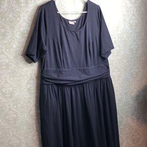 eShakti 2x (22w) Long Navy blue dress